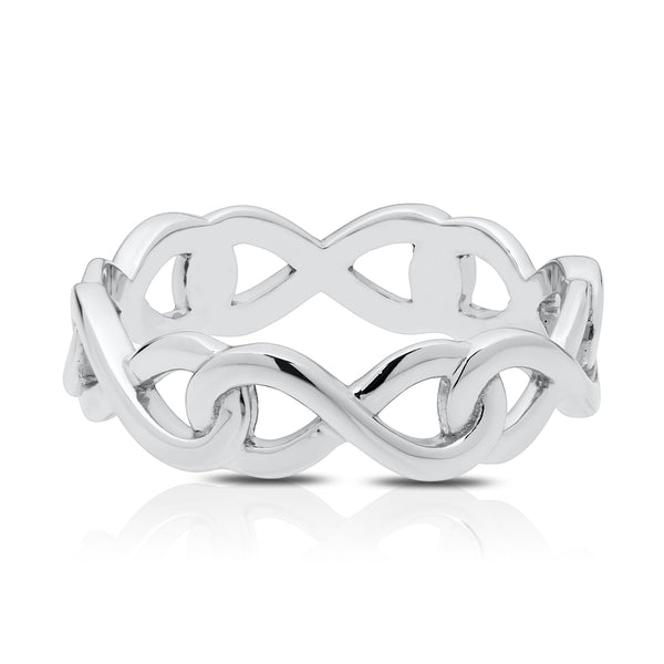 Bixlers Simplicity Diamond Infinity Eternity Ring In 14K White Gold