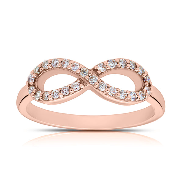 Bixlers Pure Love Diamond Infinity Ring In 14K Rose Gold