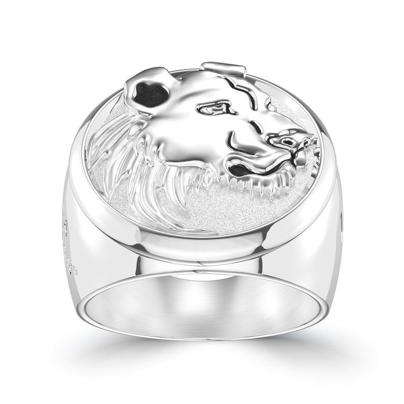 "Amanda ""The Lioness"" Nunes Large Ring In Sterling Silver"
