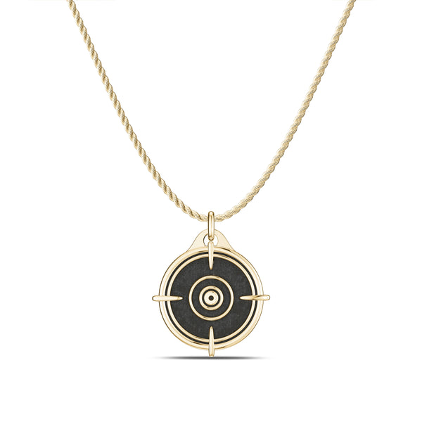 "Valentina ""Bullet"" Shevchenko Rope Large Pendant In 14K Yellow Gold"