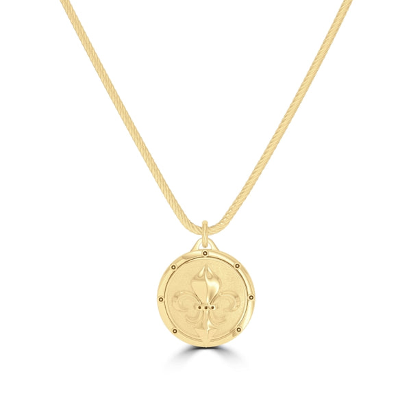 "Daniel ""Dc"" Cormier Rope Large Pendant In 14K Yellow Gold"