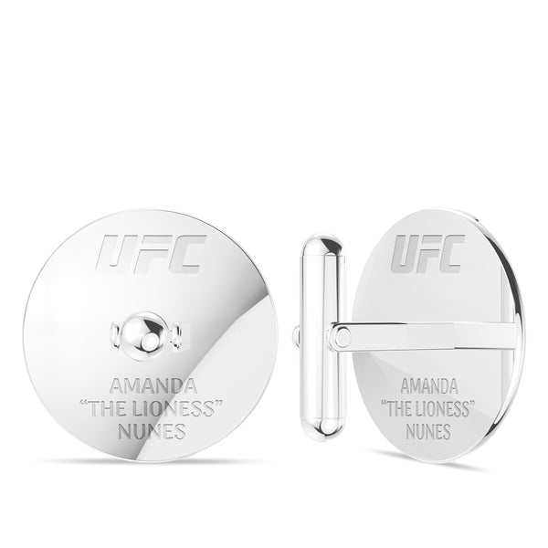 "Amanda ""The Lioness"" Nunes Cufflink In Sterling Silver"