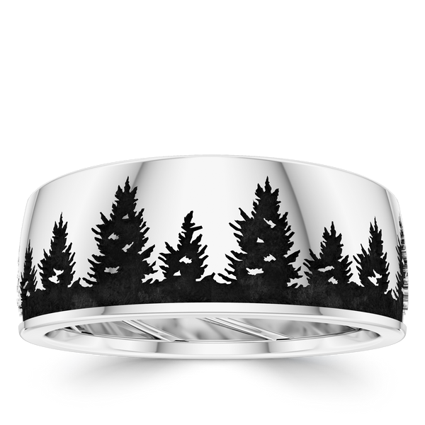 Bixlers Men's Plain Wedding Band In Sterling Silver