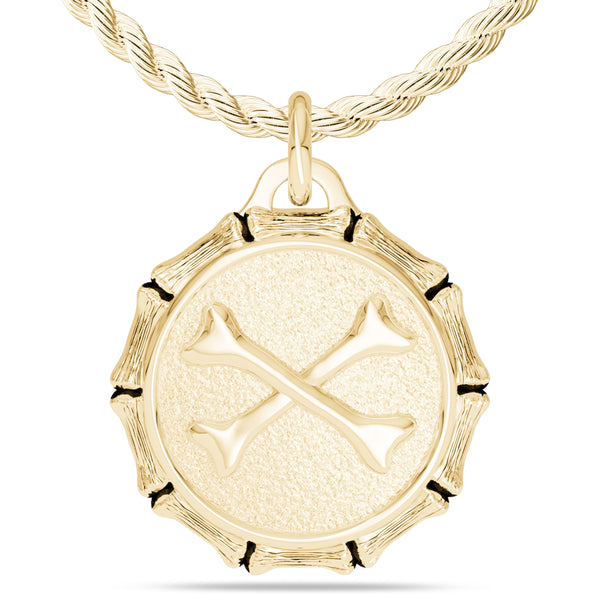 "Jon ""Bones"" Jones Rope Large Pendant In 14K Yellow Gold"