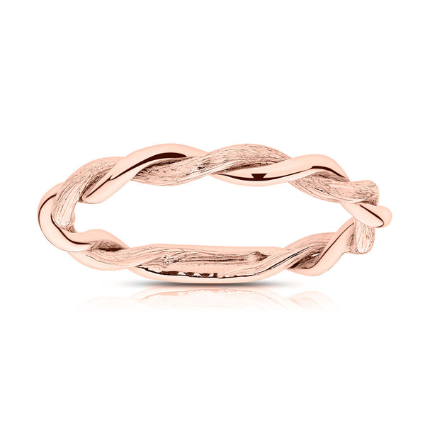 Bixlers Simplicity Florentine Twist Ring In 14k Gold