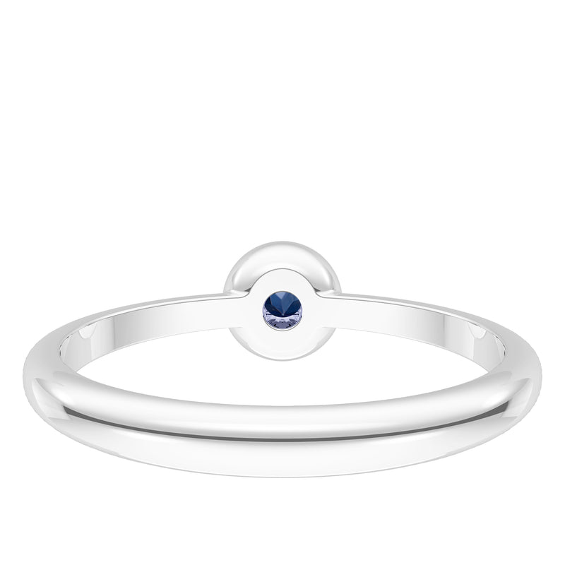 The University Of Michigan Sapphire Engraved Ring In Sterling Silver