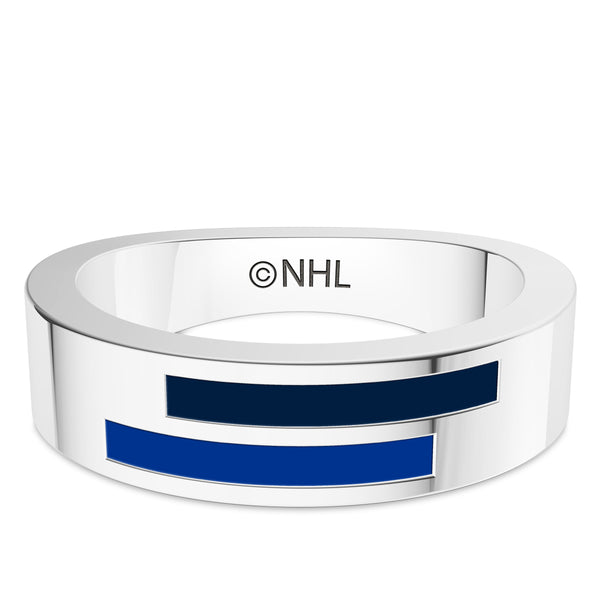 St. Louis Blues Asymmetric Enamel Ring In Sterling Silver