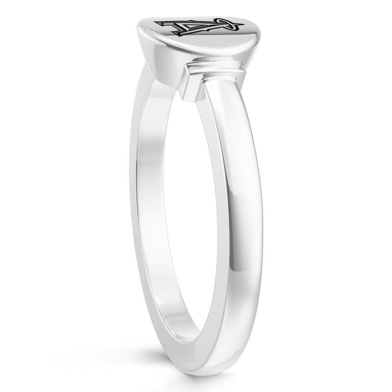 Los Angeles Angels Logo Engraved Ring In Sterling Silver