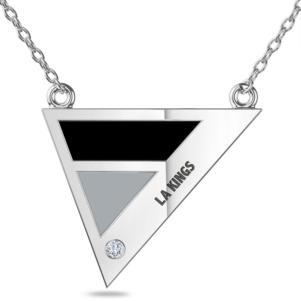 Los Angeles Kings Geometric Necklace In Sterling Silver