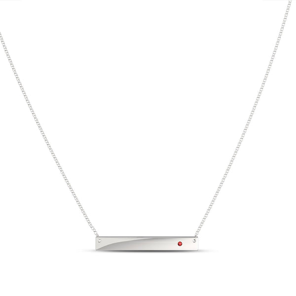 Bixlers Expressions Diamond Bar Necklace In Sterling Silver