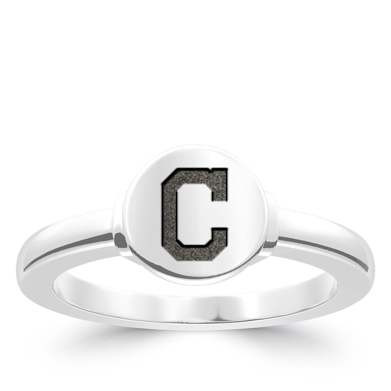 Cleveland Indians Logo Engraved Ring In Sterling Silver