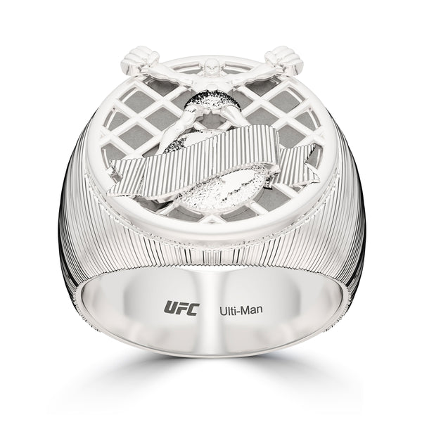 Ufc Ulti-Man Ring In Sterling Silver