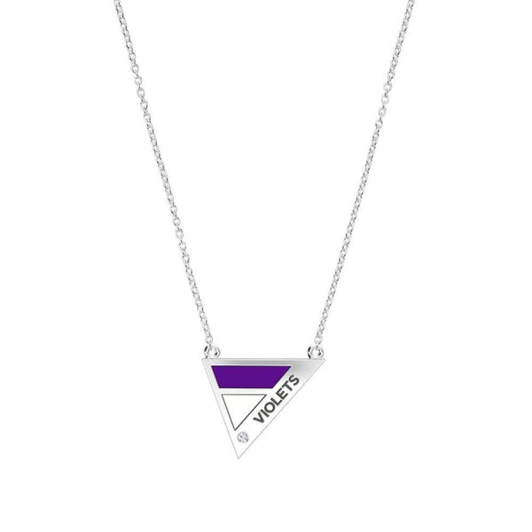 New York University Geometric Necklace In Sterling Silver