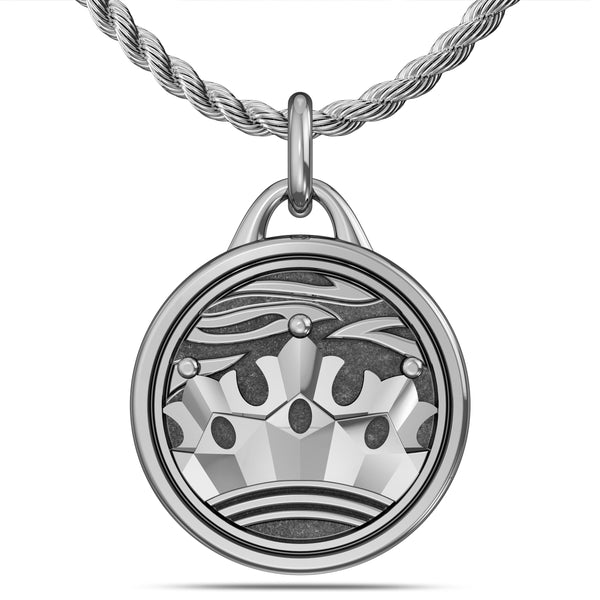 """The Notorious"" Conor Mcgregor Rope Crown Pendant In Sterling Silver"