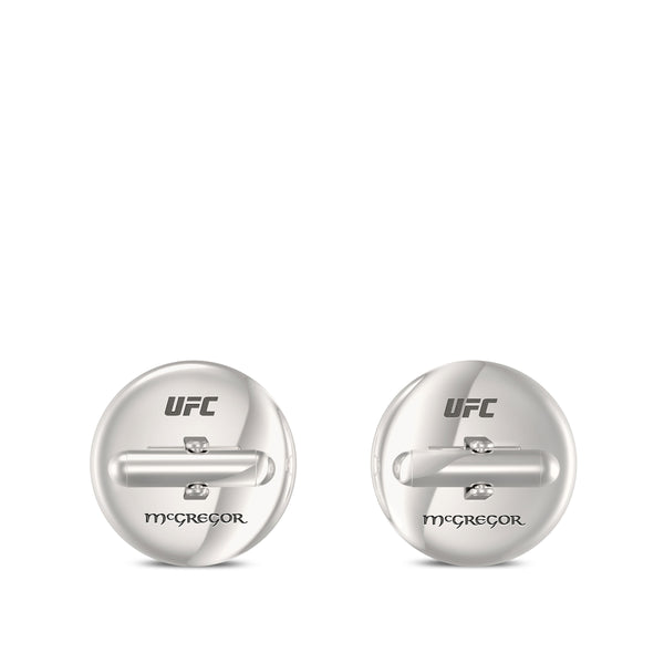 """The Notorious"" Conor Mcgregor Tiger Cufflink In Sterling Silver"