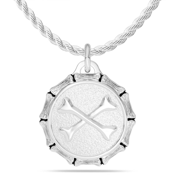 "Jon ""Bones"" Jones Rope Small Pendant In Sterling Silver"