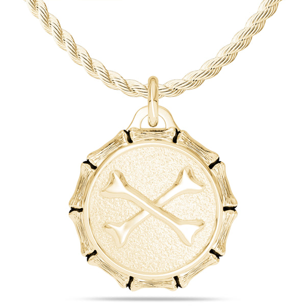 "Jon ""Bones"" Jones Rope Small Pendant In 14K Yellow Gold"