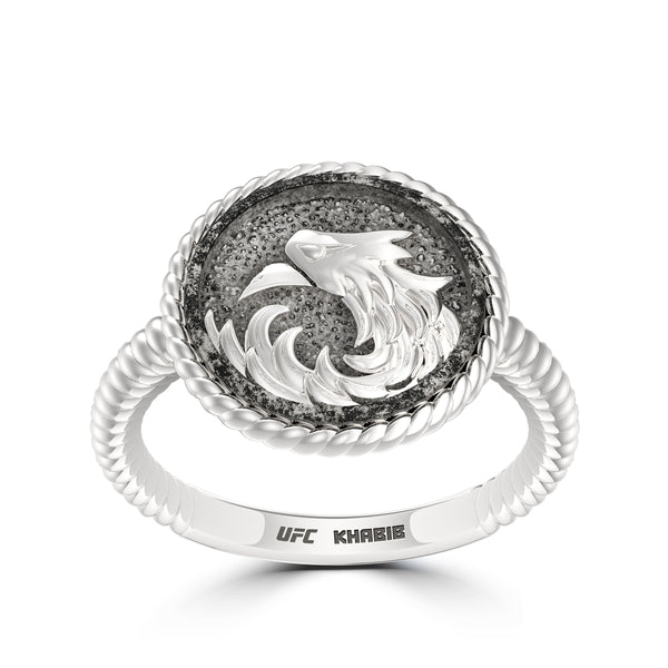 "Khabib ""The Eagle"" Nurmagomedov Ladies Eagle Ring In Sterling Silver"