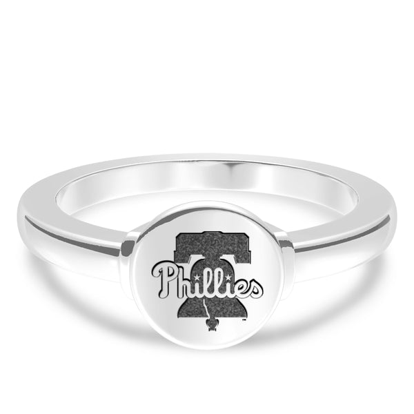 Philadelphia Phillies Logo Engraved Ring In Sterling Silver