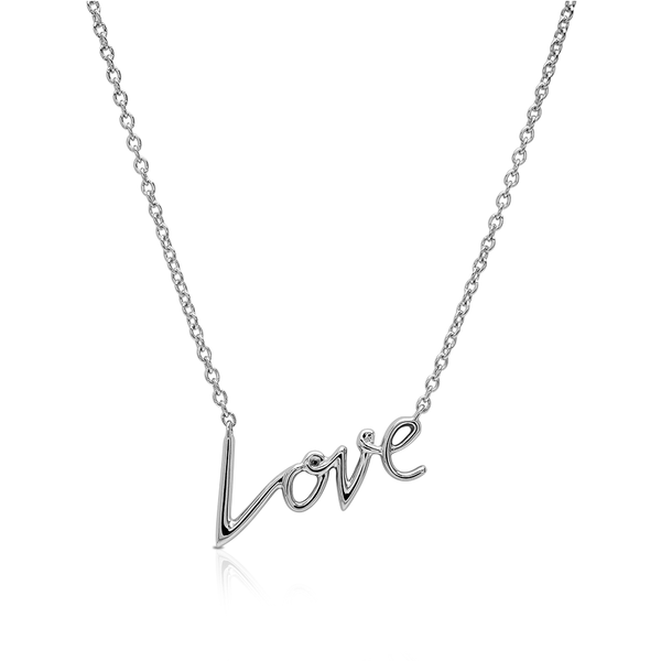 Bixlers Expression Love Necklace In Sterling Silver
