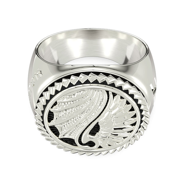 "Max ""Blessed"" Holloway Large Ring In Sterling Silver"