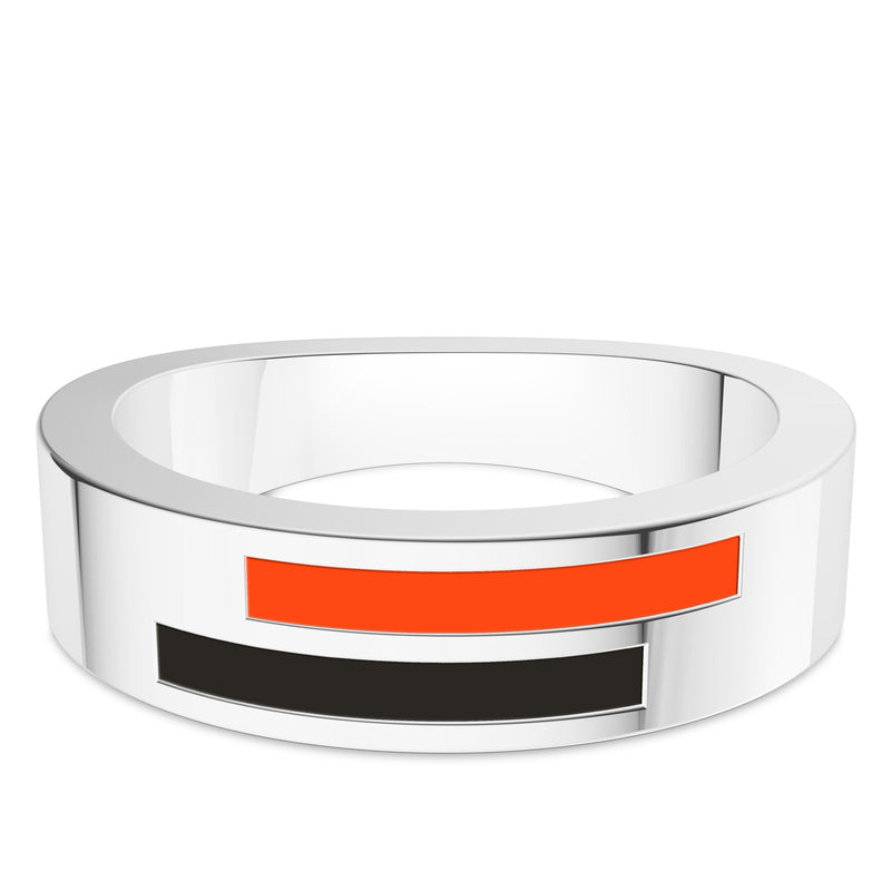 San Francisco Giants Asymmetric Enamel Ring In Sterling Silver