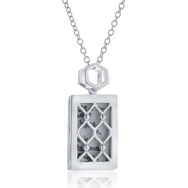 Bixlers Expressions Diamond Screen Pendant In Sterling Silver