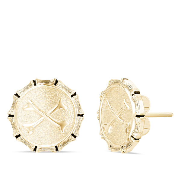 "Jon ""Bones"" Jones Stud Earring In 14K Yellow Gold"