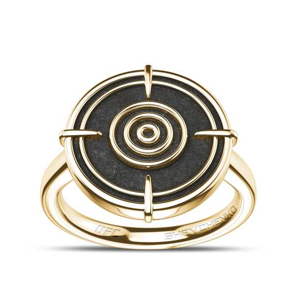 Valentina Shevchenko Small Ring In 14K Yellow Gold
