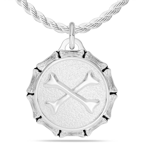 "Jon ""Bones"" Jones Rope Large Pendant In Sterling Silver"