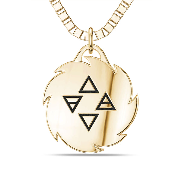 "Israel ""The Last Stylebender"" Adesanya Rope Small Pendant In 14K Yellow Gold"