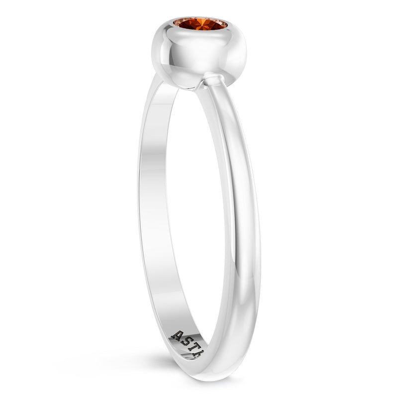 Houston Astros Citrine Engraved Ring In Sterling Silver