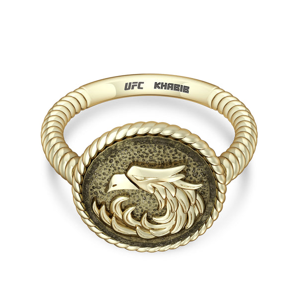 "Khabib ""The Eagle"" Nurmagomedov Ladies Eagle Ring In 14K Yellow Gold"