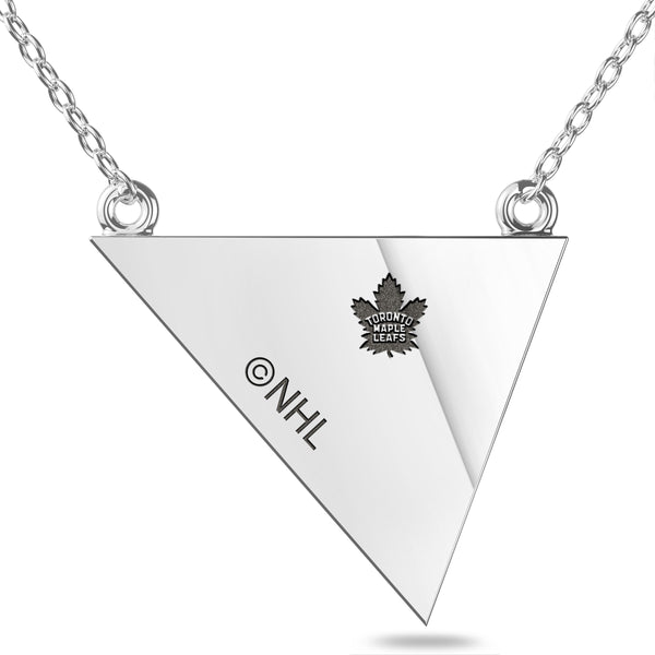 Toronto Maple Leafs Geometric Necklace In Sterling Silver