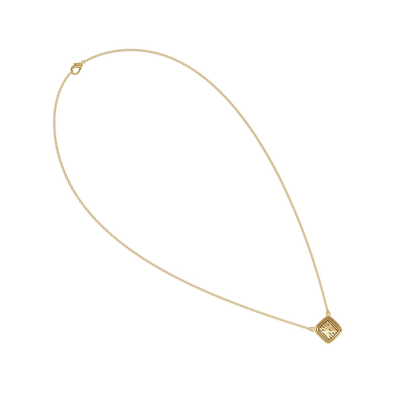 New York Yankees Cable Pinstripe Logo Suspended Necklace In 14K Yellow Gold