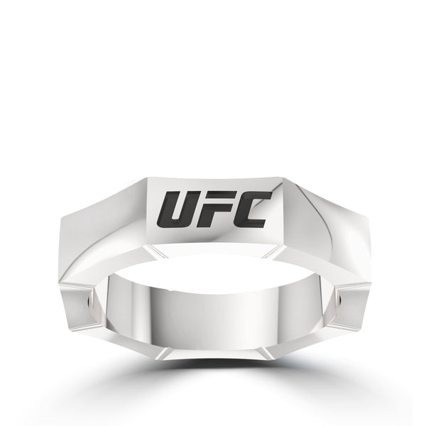 Ufc Anniversary Octagon Ring In Sterling Silver