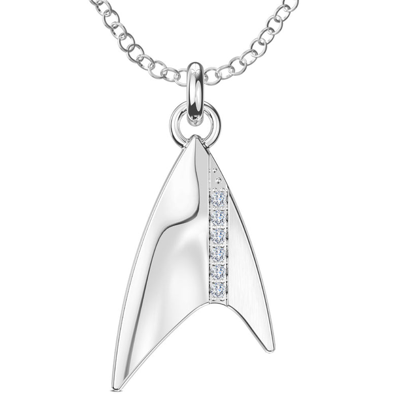 Star Trek Pendant In Sterling Silver