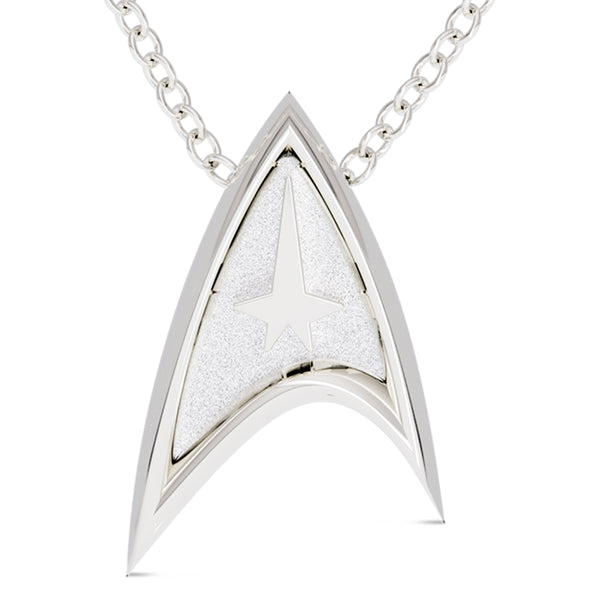 Star Trek Cable Small Pendant In Sterling Silver