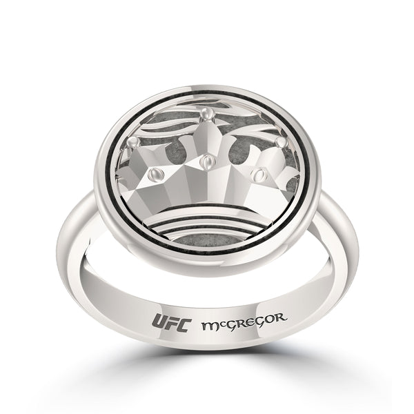 """The Notorious"" Conor Mcgregor Crown Ring In Sterling Silver"