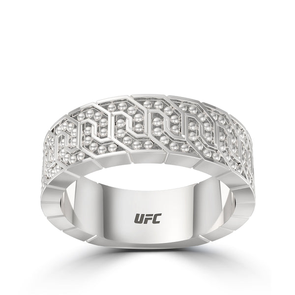 Ufc Deluxe Octagon Ring In Sterling Silver