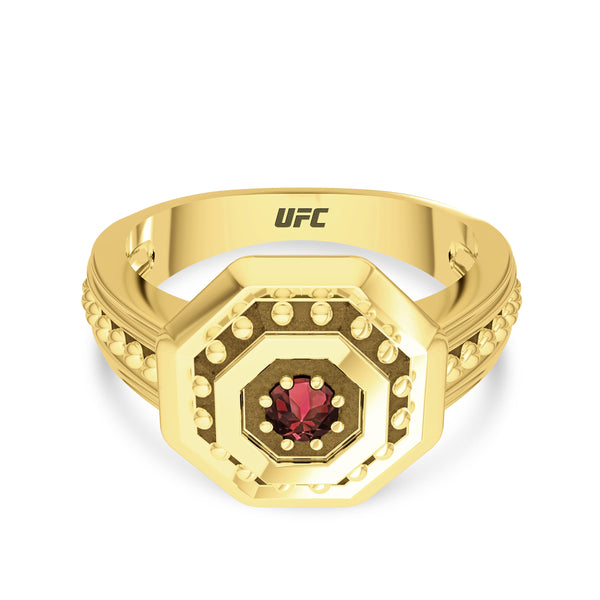 Ufc Diamond Deluxe Octagon Beaded Ring In 14K Yellow Gold