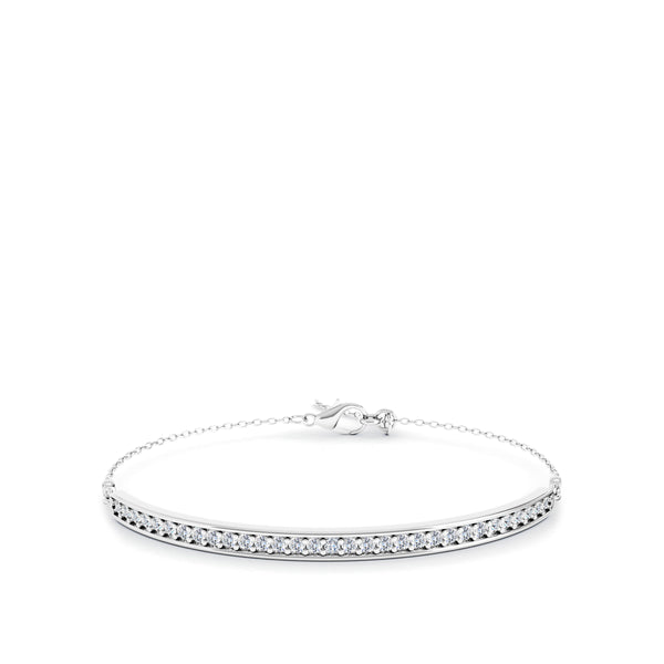 Bixlers Easton Diamond Bar Bracelet In Sterling Silver