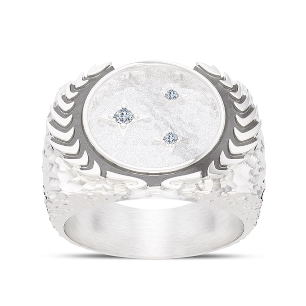 Star Trek Diamond Federation Ring In Sterling Silver