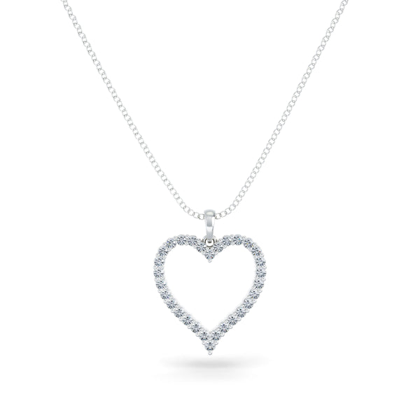 Bixlers Pure Love Diamond Heart Pendant In Sterling Silver