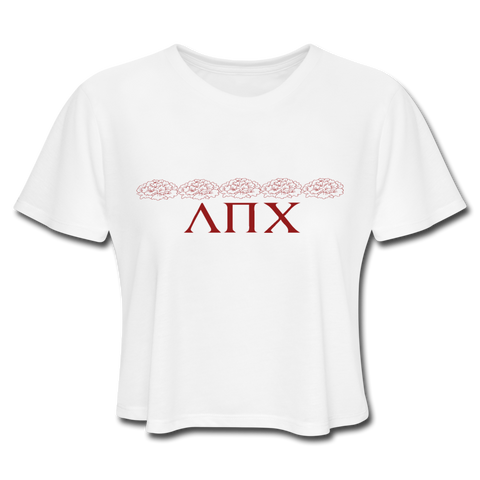 5 Strong Women Crop Top - white
