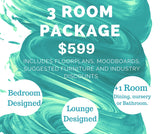 3 room Makeover e-decorating package.