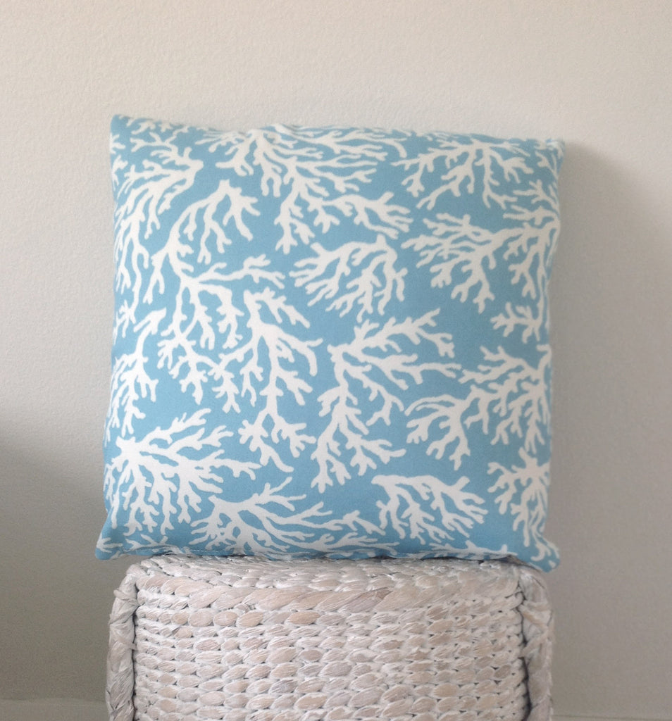 "The ""BLUE CORAL"" Small Cushion cover"