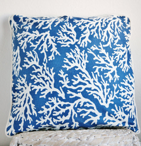 "The ""NAVY CORAL"" Small cushion"