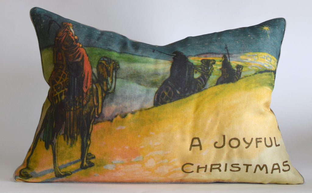 "Christmas Wise Men Pillow 17x24"" P1191"