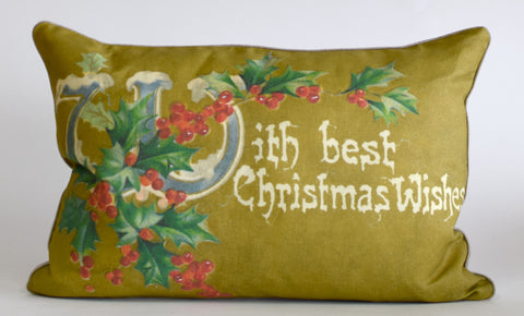 "Christmas Holly Pillow 14x20"" P1189"